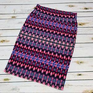 Lularoe Cassie Geo Print Stretchy Pencil Skirt